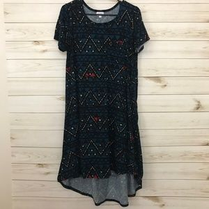 LuLaRoe Aztec Print Carly Dress, Small
